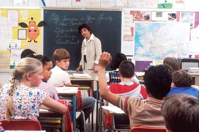 Picture of teacher in a class