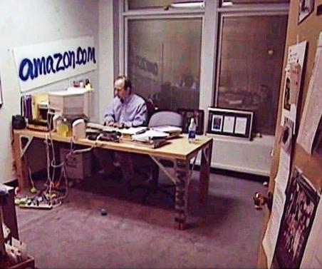 Early office of Jeff Bezos