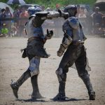 AN UNEXPECTED PUNCH ... FOR THE KNIGHT AND THE AUDIENCE by Patricia Heise