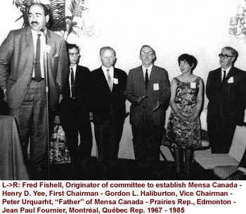 Originator of committee to establish Mensa Canada