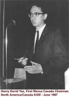 Henry David Yee, first Mensa Canada chairman