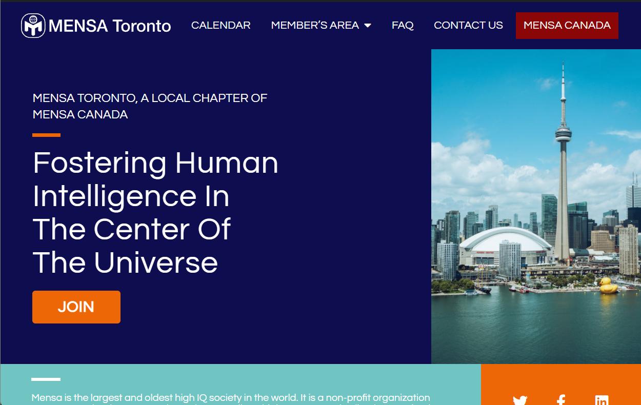 New Local Websites Mensa Canada